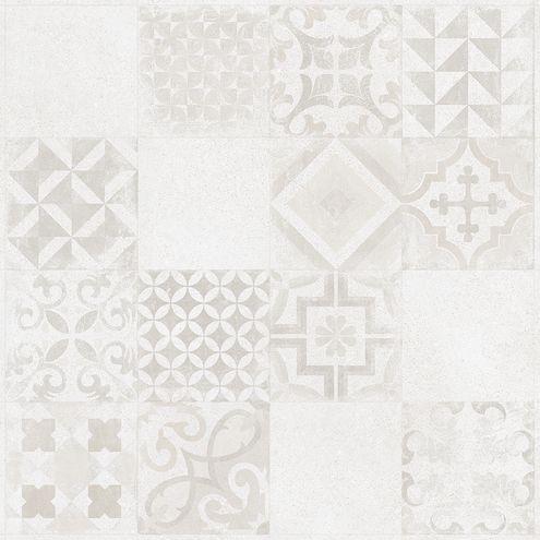 White Grey Pattern 60 x 60